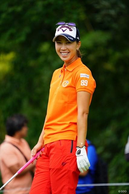 2017年 ゴルフ5レディス プロゴルフトーナメント 初日 上田桃子 ややウケ。