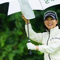 こちらもホステスプロ!がんばれー。 2017年 ゴルフ5レディス プロゴルフトーナメント 初日 川満陽香理