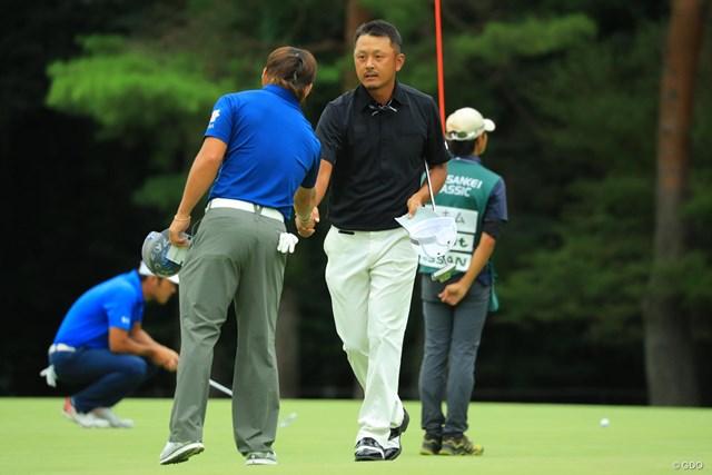 首位をキープして決勝ラウンドに進んだ岩田寛。この日も練習せずに宿舎へ引き上げた