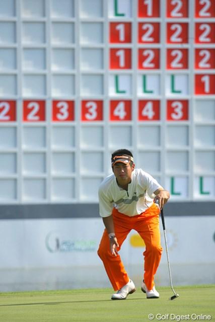 2009年 WGCHSBCチャンピオンズ 初日 池田勇太 賞金争いをリードする池田勇太。初のWGCでその存在感を見せて欲しい