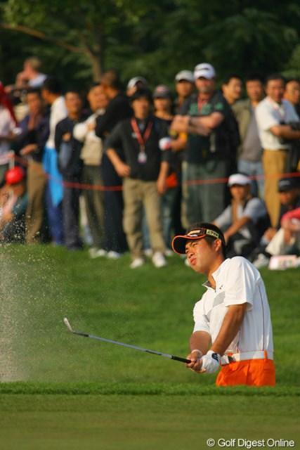 2009年 WGCHSBCチャンピオンズ 初日 池田勇太 最終ホールに入るころには、手首の痛みも出てきた池田勇太