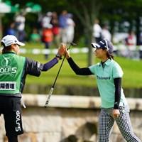 さすがホステスプロ。優勝争いに残ったね。 2017年 ゴルフ5レディス プロゴルフトーナメント 2日目 川満陽香理