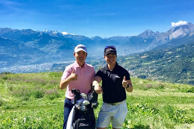 2017年 オメガ・ヨーロピアン・マスターズ 事前 川村昌弘 ここが僕の原点。今週はアルプス山脈を望むスイスにやってきました