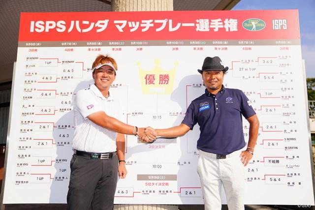 決勝戦は2週連続優勝を狙うリュー・ヒョヌと永久シード選手の片山晋呉の対戦となった