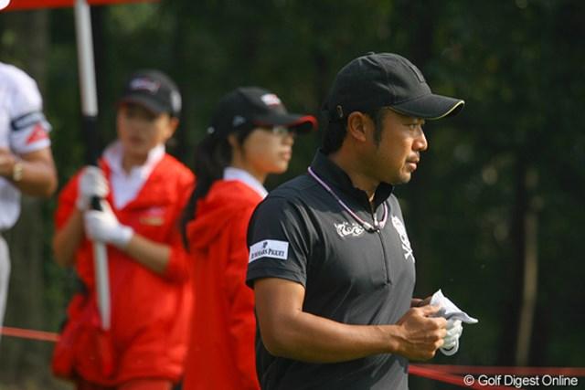 2009年 WGCHSBCチャンピオンズ2日目 片山晋呉 宣言どおり、今日はキャップで登場の片山晋呉