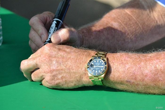 左腕にはロレックスがキラリ 2017年 JAL選手権 2日目 トム・ワトソン