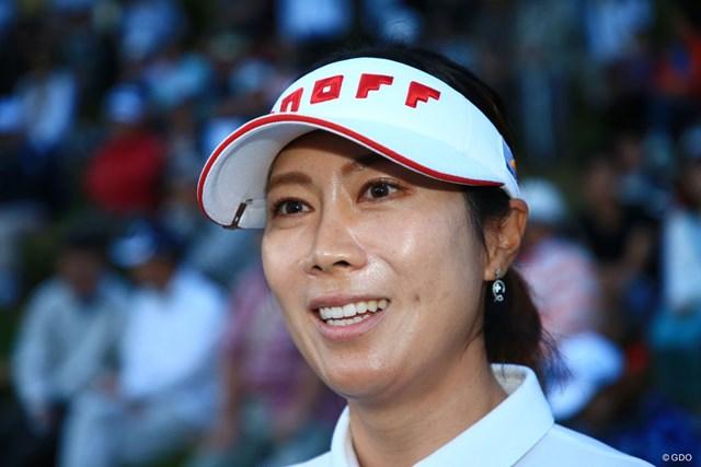 2017年 日本女子プロ選手権大会コニカミノルタ杯 最終日 李知姫 なが~い1日だったけどおめでとうです