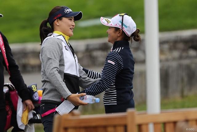 2017年 エビアン選手権 事前 ユ・ソヨン 宮里藍 ユ・ソヨン(写真左)と宮里藍は、世界の頂点に立った者にしか分からない感情を共有している