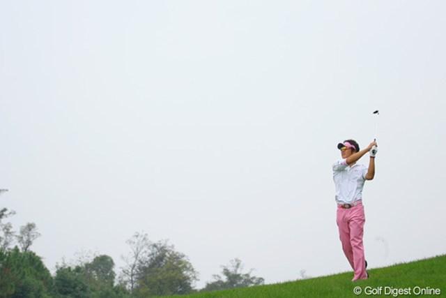 2009年 WGC HSBCチャンピオンズ3日目/石川遼 「夢を乗せて飛んでいけー」ってな雰囲気です