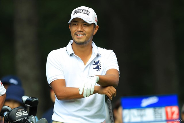 2017年 ANAオープンゴルフトーナメント 3日目 小平智 首位タイで最終日を迎える小平智。愛妻の前で結婚後の初優勝を誓った