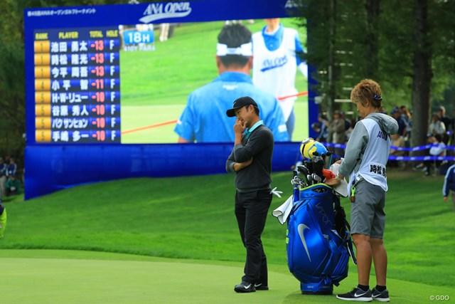 2017年 ANAオープンゴルフトーナメント 最終日 時松隆光 プレーオフで見せ場をつくった時松隆光が、2ホール目で池田勇太に破れた