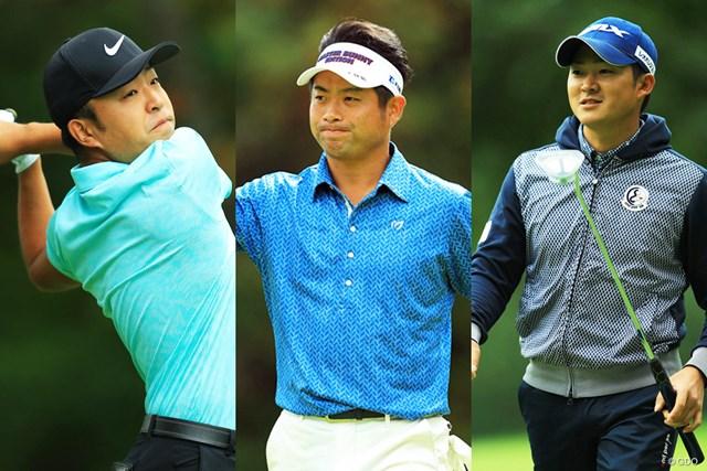 2017年 ANAオープンゴルフトーナメント 最終日 先輩 池田勇太(画像中央)vs 後輩 時松(左)&今平(右)の構図に