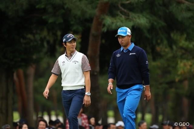 2017年 日本オープンゴルフ選手権競技 事前 石川遼、松山英樹 昨年の「日本オープン」は石川遼と松山英樹の競演で大ギャラリーが詰めかけた ※画像は2016年「日本オープン」
