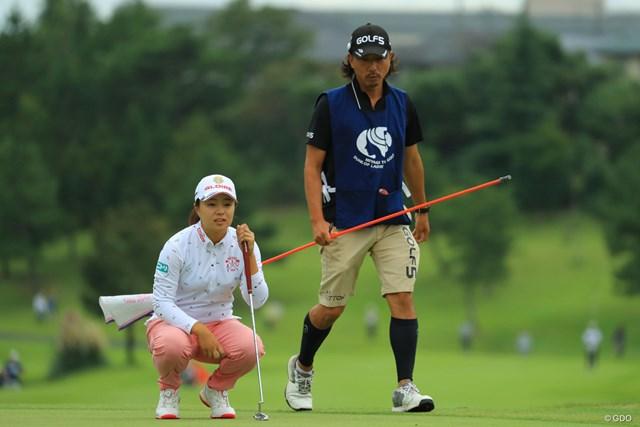 初優勝を狙い首位で最終日を迎える永峰咲希