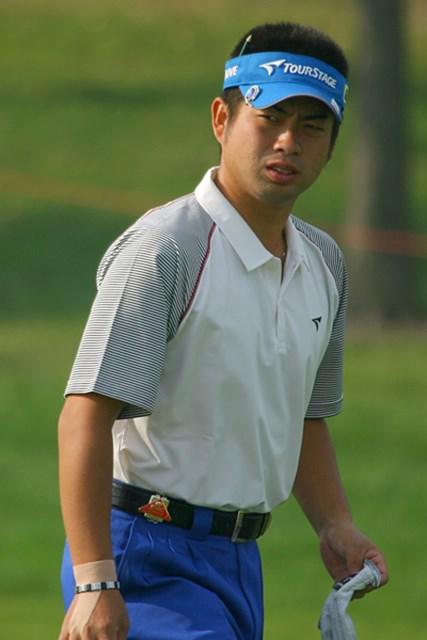 GDOEYE 2009年「WGC HSBCチャンピオンズ」最終日 池田勇太 右手にテーピングをしながら戦った池田だが…(写真は2日目)