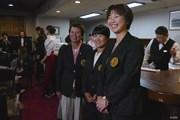 2017年 日本女子オープンゴルフ選手権競技 事前 樋口久子相談役、小林浩美会長、畑岡奈紗