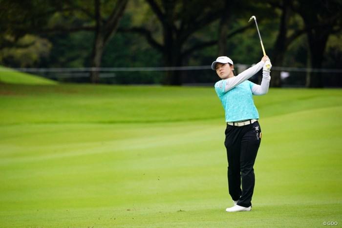 いつも安定した実力をチラ見させてくる。 2017年 日本女子オープンゴルフ選手権競技 初日 下川めぐみ