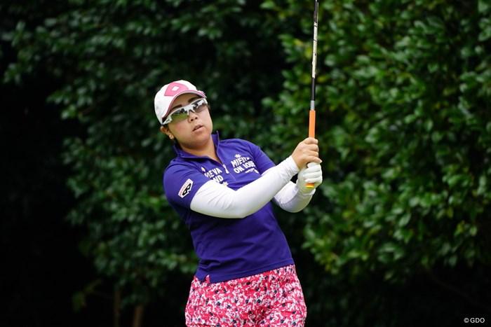 結局9時半スタートだったけど、何時起きだったんだろう。今朝。 2017年 日本女子オープンゴルフ選手権競技 初日 大城さつき