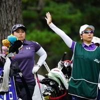 「馬場さーん!」「はーい!」どっちも馬場さんや。 2017年 日本女子オープンゴルフ選手権競技 初日 馬場ゆかり