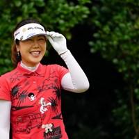 めちゃくちゃご機嫌なのだ。 2017年 日本女子オープンゴルフ選手権競技 初日 姜秀衍