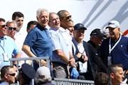 2017年 ザ・プレジデンツカップ 初日 ビル・クリントン ジョージ・W・ブッシュ バラク・オバマ ジャック・ニクラス ゲーリー・プレーヤー