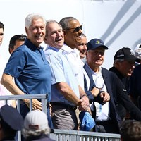 歴代大統領が3人も。ザ・プレジデンツカップが華々しく開幕した 2017年 ザ・プレジデンツカップ 初日 ビル・クリントン ジョージ・W・ブッシュ バラク・オバマ ジャック・ニクラス ゲーリー・プレーヤー