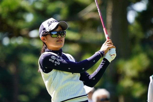 2017年 日本女子オープンゴルフ選手権競技 2日目 小倉彩愛 エースを達成し暫定3位に浮上した小倉彩愛