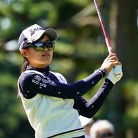 エースを達成し暫定3位に浮上した小倉彩愛 2017年 日本女子オープンゴルフ選手権競技 2日目 小倉彩愛