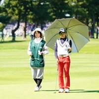 まだ高校2年生。優勝すれば、もちろん大会史上最年少だ 2017年 日本女子オープンゴルフ選手権競技 2日目 小倉彩愛