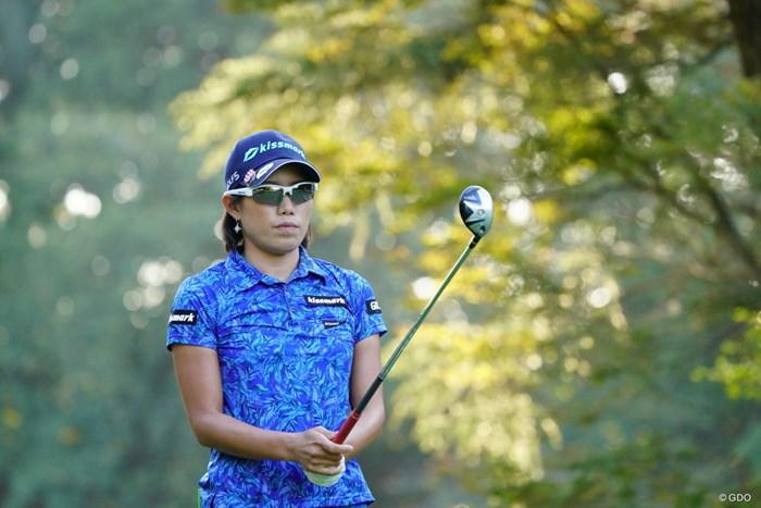 なぜか彼女をずっと追い続ける変なカメラマンがいるのだ。 2017年 日本女子オープンゴルフ選手権競技 2日目 山田成美