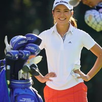 笑う彩夏。小田龍一に見えた。 2017年 日本女子オープンゴルフ選手権競技 2日目 松森彩夏