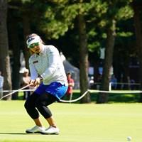 あ、けられてしまった。 2017年 日本女子オープンゴルフ選手権競技 2日目 馬場ゆかり