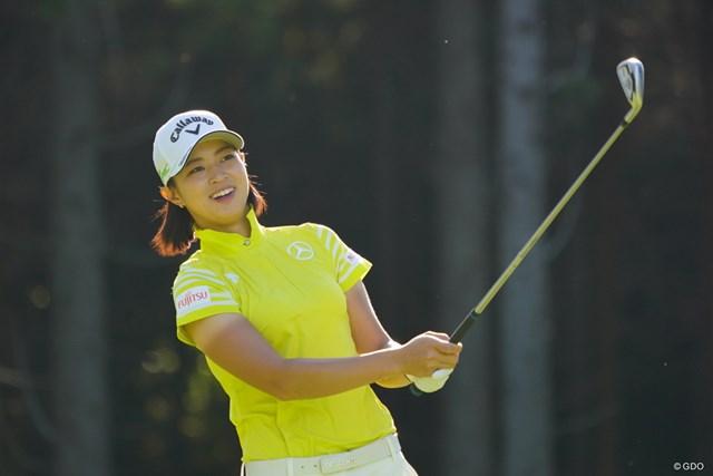 2017年 日本女子オープンゴルフ選手権競技 2日目 柏原明日架 「へっへっへ、どうよ、これ。」