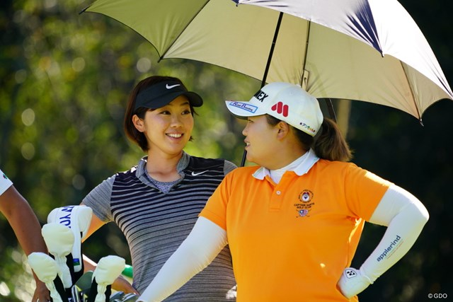 2017年 日本女子オープンゴルフ選手権競技 2日目 葭葉ルミ 「ワーオ!ビッグフェイス!」