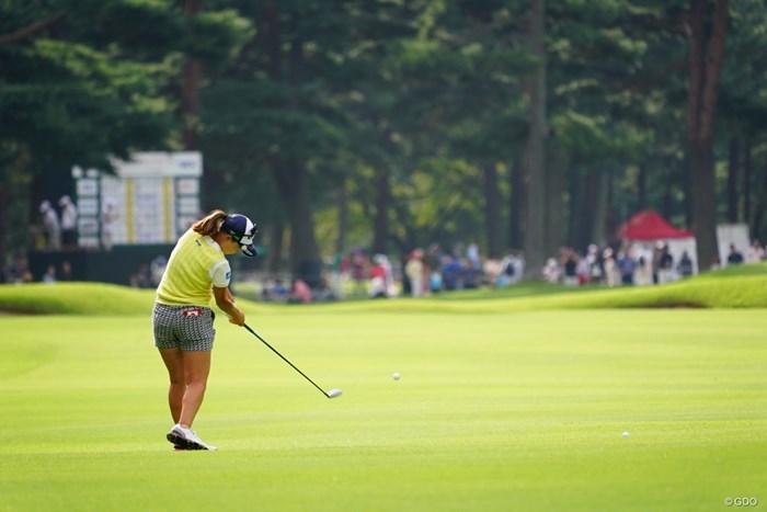 女子って特にフェアウェイウッドが上手い印象。 2017年 日本女子オープンゴルフ選手権競技 3日目 上田桃子
