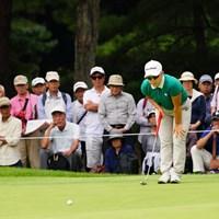 後ろのおじさんは別にジエのお尻を凝視しているわけではないはず。 2017年 日本女子オープンゴルフ選手権競技 3日目 申ジエ