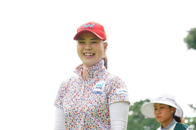 2017年 日本女子オープンゴルフ選手権競技 3日目 石川陽子 笑いすぎて逆に怖い例。
