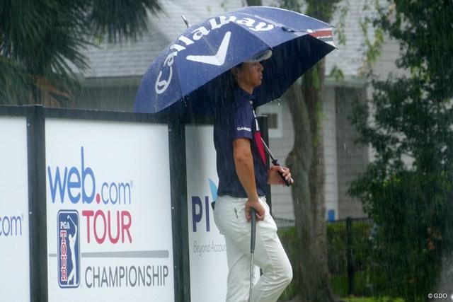 2017年 ウェブドットコムツアー選手権 石川遼 突如強まり出した雨。石川遼の米挑戦は終わるのか