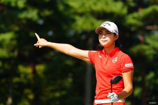 2017年 日本女子オープンゴルフ選手権競技 最終日 柏原明日架 えっと柏原だからアッチが柏?