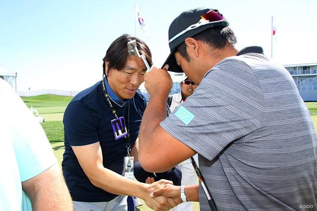 松井秀喜さんと松山英樹はザ・プレジデンツカップの会場で初めてあいさつを交わした