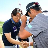 松井秀喜さんと松山英樹はザ・プレジデンツカップの会場で初めてあいさつを交わした 2017年 ザ・プレジデンツカップ 最終日 松井秀喜さん 松山英樹