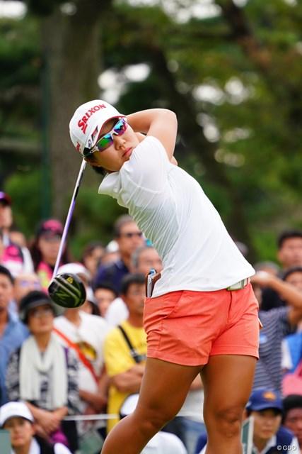 ツアー記録に並ぶ3週連続優勝に挑む畑岡奈紗。快挙は続くか? ※撮影は2017年「日本女子オープン」