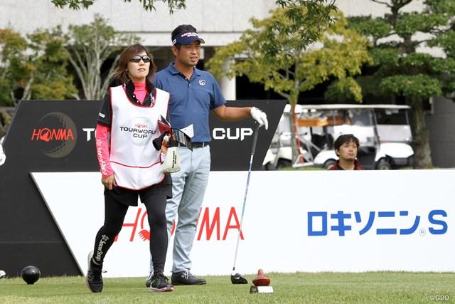 開幕前日はプロアマ戦に出場した池田勇太。自身2度目の大会連覇に挑む
