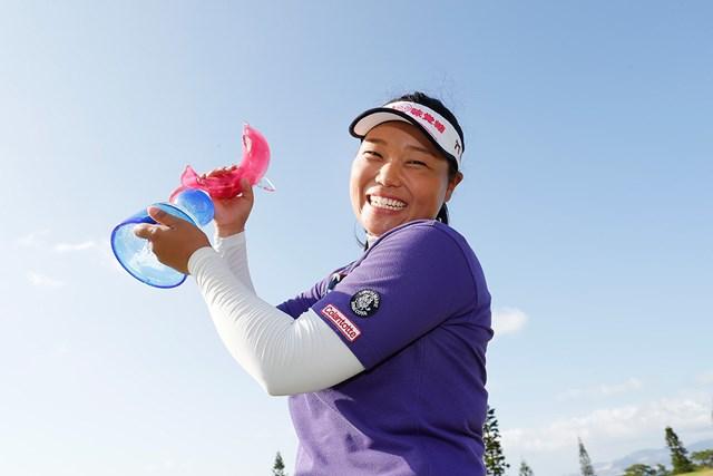 今季下部ツアー3勝目を挙げた谷河枝里子(Ken Ishii/Getty Images)