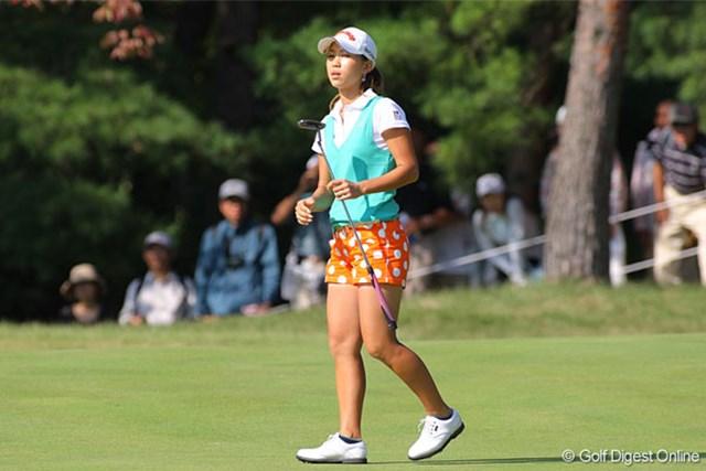 2008年 日本女子オープンゴルフ選手権競技 2日目 上田桃子 パットが決まらず、ストレスの溜まるラウンドとなった上田桃子。決勝ラウンドで爆発したい!