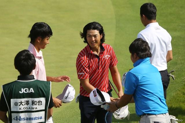 2017年 日本オープンゴルフ選手権競技 事前 石川遼 開幕前日の練習ラウンドはアマチュア勢とプレーした石川遼