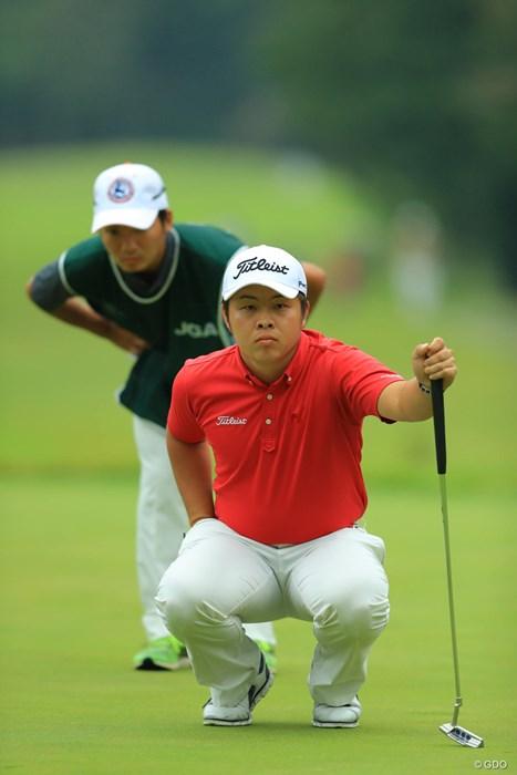 アマチュアながら3アンダーのナイスプレーでしたね。今野康晴プロの甥っ子なんです。 2017年 日本オープンゴルフ選手権競技 初日 今野大喜