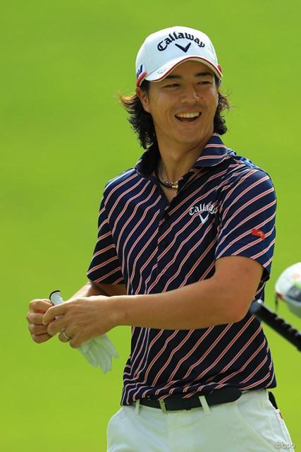 2017年 日本オープンゴルフ選手権競技 初日 石川遼 この笑顔があれば大丈夫ですね。