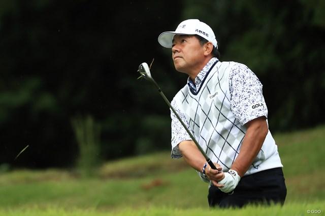 2017年 日本オープンゴルフ選手権競技 2日目 室田淳 62歳の室田淳。2日目に挽回して決勝ラウンドに進んだ