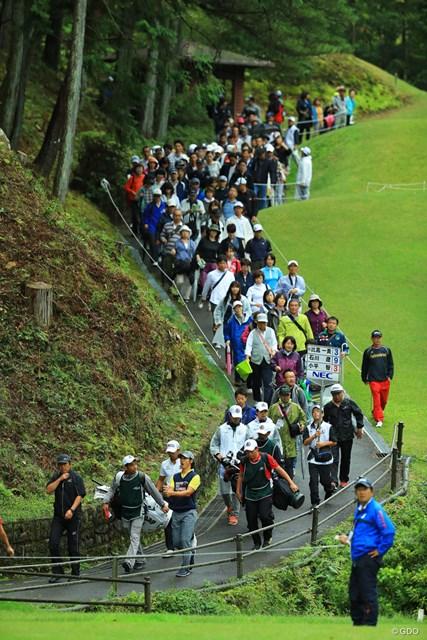 2017年 日本オープンゴルフ選手権競技 2日目 石川遼 今日も大勢のギャラリーが遼くんを後押ししたんですけどねぇ。